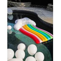 China Waterproof Inflatable Pool Floats Rinbow Recliner Pool Lounger for Kids & Adult on sale