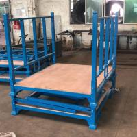 China Powder Coating Folding Stacking Pallet Rack With Wooden Sheet 3 Layer on sale