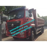 Wholesale Red HOHAN 340HP Heavy Duty Tipper With Fortfield carbon Steel Carriage, 10 Wheel 6x4 Dump Truck from china suppliers