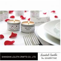Wholesale Silver And Golden Color Beautiful Scented Candles , Soy Wax Small Tin Candles from china suppliers