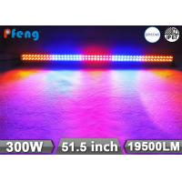 China 51.5 Inch 300W Multi Color Strobe RGB Led Light Bar With Wireless Remote Control on sale