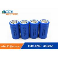 Wholesale high quality icr14280 LED Lighting lithium battery 3.7V 340mAh 14280 rechargeable li-ion battery from china suppliers