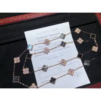 Wholesale Rose Gold Diamond Van Cleef Jewelry , Vintage Alhambra Necklace 20 Motifs from china suppliers
