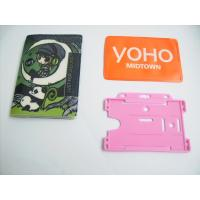 Wholesale Retractable Rigid Plastic Pvc Badge Holder For Name Card , Silk Printing from china suppliers