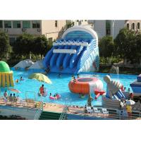 Wholesale Giant Metal Frame Pool , Above Ground Pool Water Slide For Amusement Park from china suppliers