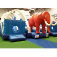 Wholesale CE, EN14960 Blue And Red Giant Inflatable world elephant Bouncer Slide For KIds from china suppliers