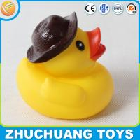 China funny rubber duck toys with hat on sale
