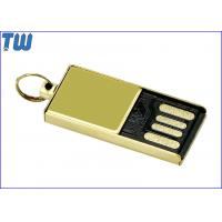 Buy cheap Tiny Delicate Glossy Golden Metal 4GB Flash Drive Free Key Ring from Wholesalers