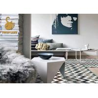 Wholesale Large Size Eco-friendly TPR Custom Area Rugs Slip Resistant Printing Square Area Rugs from china suppliers