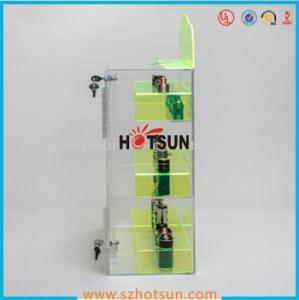 Quality clear acrylic e-cigarette display stand /e-liquid display case / e liquid bottle for sale