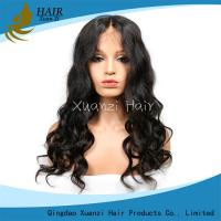 Wholesale Natural Hairline Bleached Elegant Brazilian Hair 360 Lace Human Hair Wig Hat Full Lace Wig from china suppliers