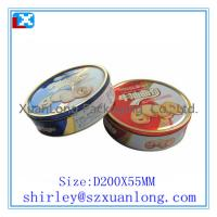 Wholesale round shape  empty cookies tin from china suppliers