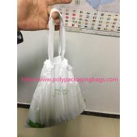 Wholesale HDPE / LDPE Clear Drawstring Plastic Bags For Supermarket / Hospital from china suppliers