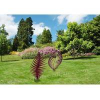 China Leaf Design Corten Steel Sculpture With Rusty Naturally Finish For Outdoor Decor for sale