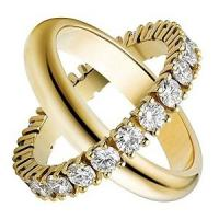 Wholesale Couple Fashion Jewelry Rings Gold Plated With Crystal Engagement ring from china suppliers