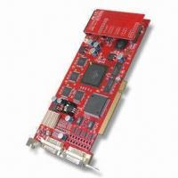 Wholesale MPEG-4 16CH Hardware Compressed Video Capture Card, Supports PDA Monitoring from china suppliers
