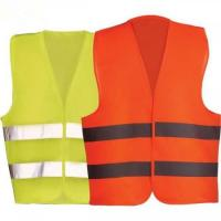 China Construction Areas Reflective Safety Vest , Yellow Orange High Visibility Vest on sale
