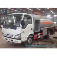 Wholesale ISUZU 4x2 Fuel Oil Tank Trailer Carbon Steel 4000 L Refuel Tanker Truck from china suppliers