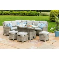 Wholesale High - End Quality Outdoor Rattan Dining Set Big Table With Ice Pot from china suppliers