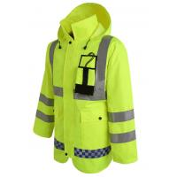 Wholesale Hoody Raincoat with Reflective Tape Cheap Workwear for Rain Day from china suppliers