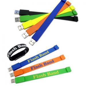 China Wristband USB 2.0 PVC Usb Flash Drive from 16MB-128GB on sale