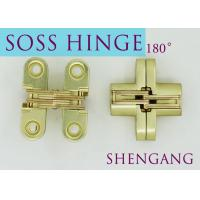 Satin Brass Soss Stainless Steel Concealed Hinges , Wings measure 3/8 Wide x 1-11/16 Long for 1/2 , SOSS #101 for sale