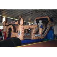 China Egyptian Pharaoh Themed Commercial Inflatable Water Slides Long And High For 3 - 15 Years Old Children on sale