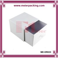 Wholesale Candle gift box, white paper drawer slider box, recycle christmas paper box ME-DR023 from china suppliers
