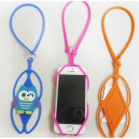 Promotional gifts cartoon cellphone silicone sling rope mobile phone holder lanyard for sale