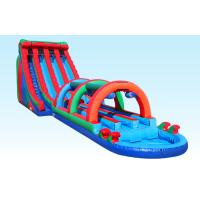 Wholesale 3 Lane Giant Inflatable Water Slides 24FT Triple Lane Threat With Satety Arch from china suppliers