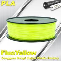 Wholesale PLA Fluo-Yellow 3D Printer Fluorescent Filament  Materials 1.75 / 3.0mm from china suppliers