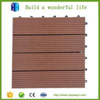 Wholesale HEYA wpc decking tile 30x30 interlocking outdoor composite plastic wood tile flooring from china suppliers