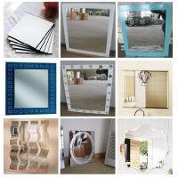 China Rectangular , Square , Round custom glass mirror sheet for household , shops on sale
