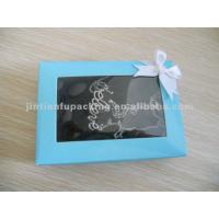 China customized jewelry gift box with gold hot stamping on sale