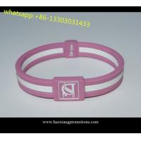 Factory supply Cheap silicoen bangles. Silicone Wristband give away for sale
