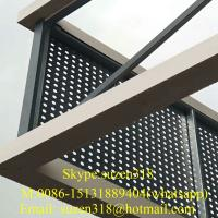 Wholesale 1/4 inch perforated aluminum sheet round hole / metal panels perforated building from china suppliers