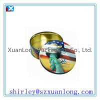 Wholesale embossed round chocolate tin box  www.xuanlongpackagingco.com from china suppliers