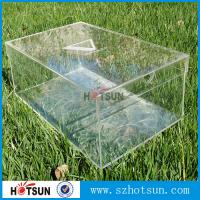 Quality High quality custom clear acrylic shoe box wholesale,Crystal Clear Acrylic Shoe Display Case / Perspex Shoes Box for sale