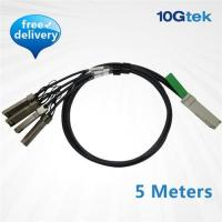 Wholesale QSFP+ to 4 SFP+ Copper Splitter cable 5m, Passive (CAB-QSFP/4SFP-P5M) from china suppliers