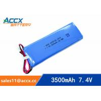 Quality 7.4V lipo battery with 3500mAh lithium polymer battery pack 6040105 pl 6040105 2S1P for sale