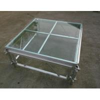 Wholesale Easy install acrylic / glass adjustable stage platform / plexiglass stage Platform with Aluminum truss from china suppliers