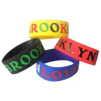 Promotional Gift Color Filled Silicone Bracelets for sale
