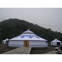 China 50 Sqm Customized Mongolian Yurt Tent With Attractive Inner Decoration on sale