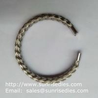 Wholesale 304 stainless steel wire braided bangle, stock stainless steel wire bracelet wholesale from china suppliers