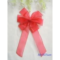 China Gold Edge wired Christmas ribbon bows / ribbon christmas wreath 30cm OEM / ODM Available on sale