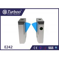 China Durable Retractable Flap Barrier Turnstile Biometric Access Control System on sale