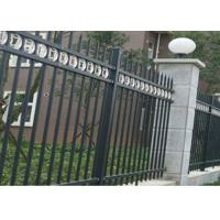 Wholesale Three Beams Zinc Steel Fence Single Ring For Bounding Wall , 50*50mm Rail from china suppliers