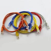 Wholesale Network RJ45 Cat5e Patch Cord Bare Copper 7X0.12MM Stranded Patch Cables 5 Colors Patch Le from china suppliers