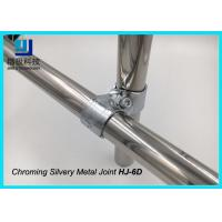 Wholesale 2 Pipe Mounting Bracket Chroming Joint Tube Metal Clamp For ESD Trolley HJ-6D from china suppliers