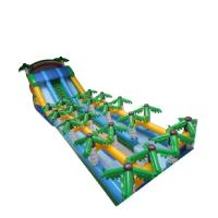 Wholesale 20m Tropical Massive Giant Inflatable Slide Green With Palm Trees from china suppliers